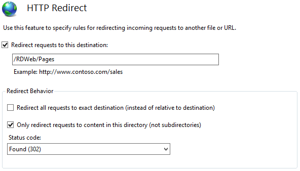 RDS 2012: Redirect RDWEB page from IIS Default (root) site – Anand