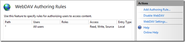 IIS: Publish Windows Share to WebDAV site – Anand, the Architect