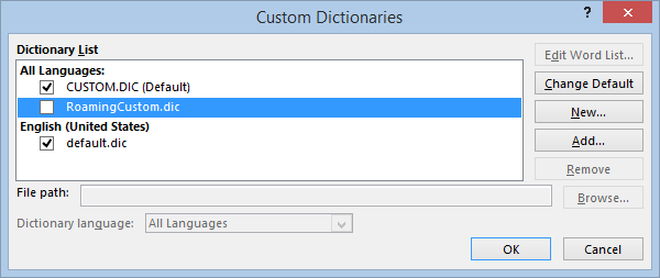 "Office: ""Add to dictionary"" option greyed out – Anand, the"